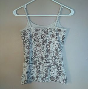 SO Tops - SO Small Tan Brown Printed Tank Top